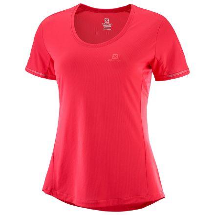 Salomon Agile SS Tee | Hibiscus - damska koszulka do biegania