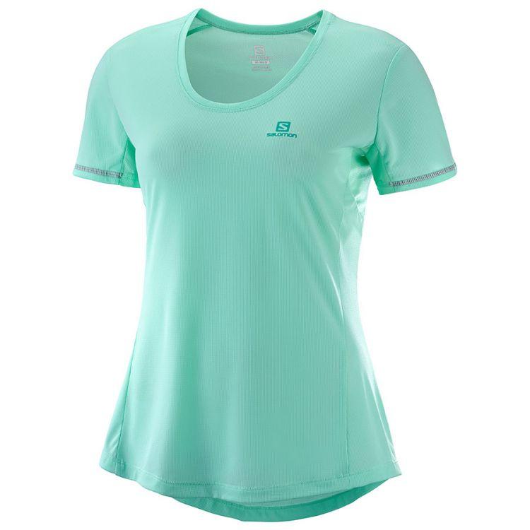 Salomon Agile SS Tee | Yucca - damska koszulka do biegania