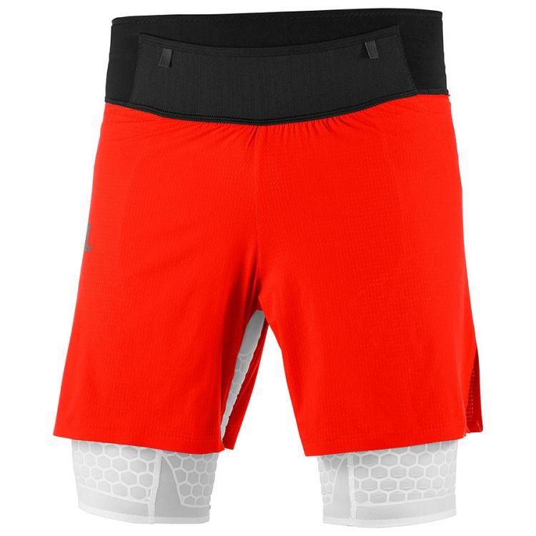 Salomon EXO Twinskin Short | Fiery Red Spodenki do biegania męskie