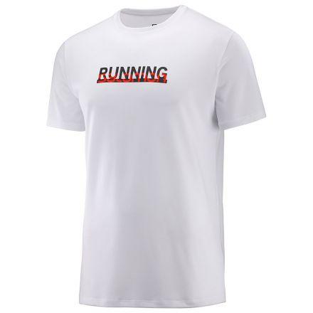 Salomon Agile Graphic Tee M | White - męska koszulka do biegania