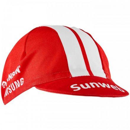 Craft Team Sunweb Bike Cap | CZERWONO-BIAŁA