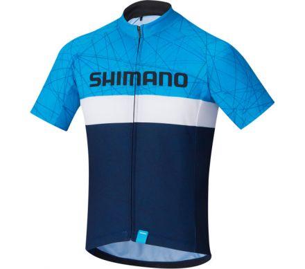 Shimano Junior Team Jersey | NIEBIESKO-GRANATOWA - dziecięca koszulka rowerowa ECWJSPSSS21JNO