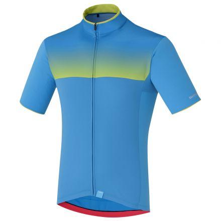 Shimano Escape Shimano | NIEBIESKO-ZIELONA  - męska koszulka rowerowa ECWJSPSSS51MB