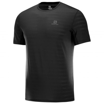 Salomon XA Tee M | BLACK męska koszulka do biegania