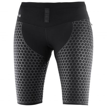 Salomon S-Lab EXO Half Tight W | CZARNE - damskie getry kompresyjne do biegania