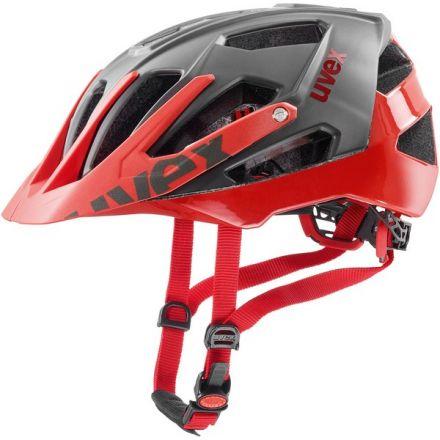 Uvex Quatro | Grey Red - kask rowerowy