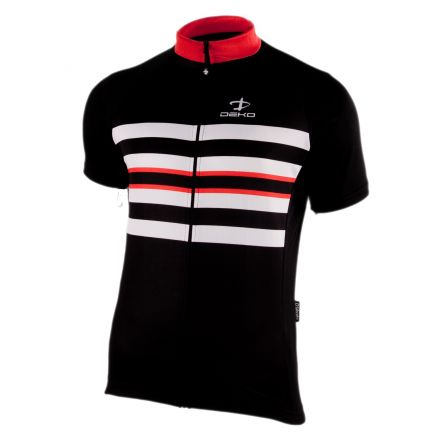 DEKO DK-1018-003 | CZARNO-CZERWONA- męska koszulka rowerowa