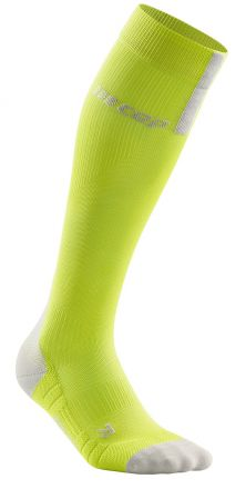 Cep Run Compression Socks 3.0 Men | LIME/LIGHT GREY - męskie skarpety kompresyjne WP50EX