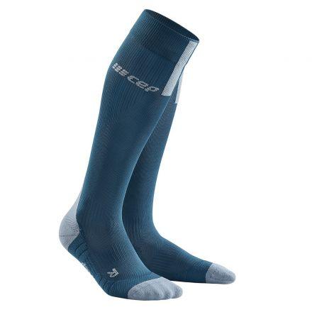 Cep Run Compression Socks 3.0 Men   BLUE/GREY - męskie skarpety kompresyjne WP50DX