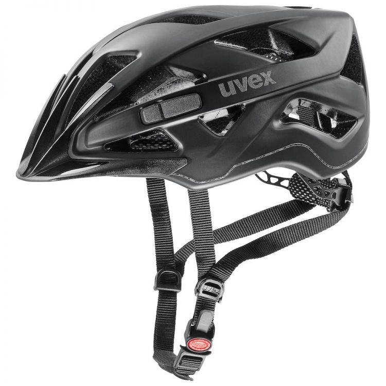Uvex Active CC | BLACK MAT - bezpieczny miejski kask rowerowy 41042707
