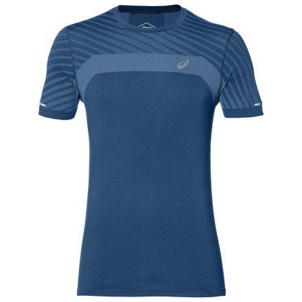Asics Seamless SS Texture | NIEBIESKA - Męska koszulka do biegania 2011A601-401