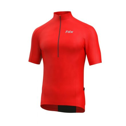 FDX HiViz Cycling Shirt | CZERWONA