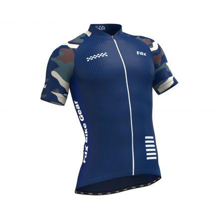 FDX Camo 2 Half Sleeve Cycling Jersey | NIEBIESKA