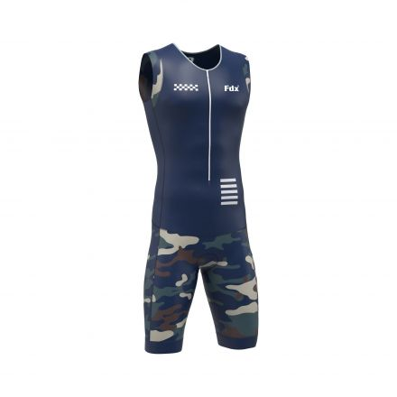 FDX Camo Triathlon Suit | NIEBIESKI-MORO