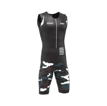 FDX Camo Triathlon Suit | CZARNY-MORO