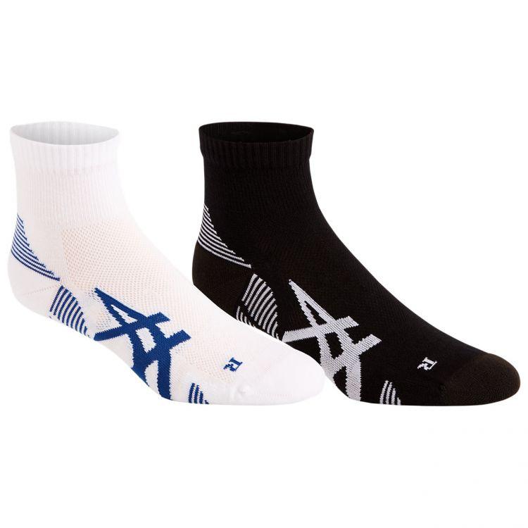 Asics Cushioning Sock 2 pak | CZARNE BIAŁE