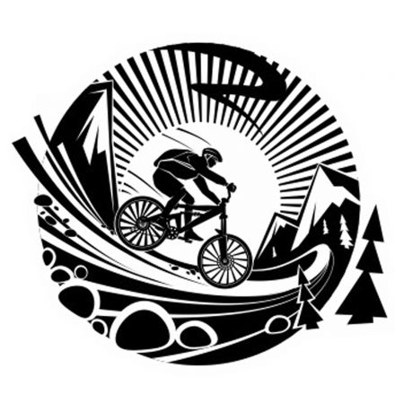 Car Sticker Cyclist
