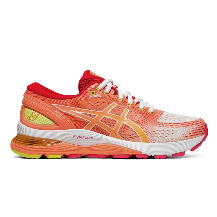 Asics Gel Nimbus 21 | WHITE/SUN CORAL  Damskie buty do biegania 1012A611-100