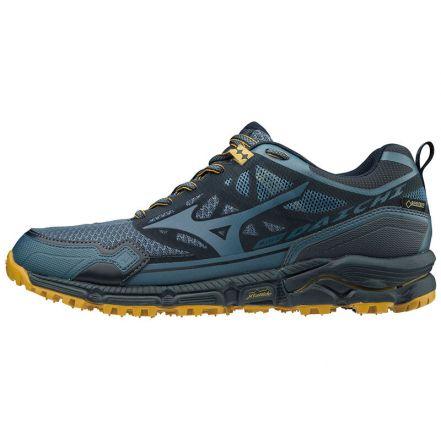 Mizuno Wave Daichi 4 G-TX | GRANATOWE - wodoodporne męskie buty do biegania w terenie J1GJ195630