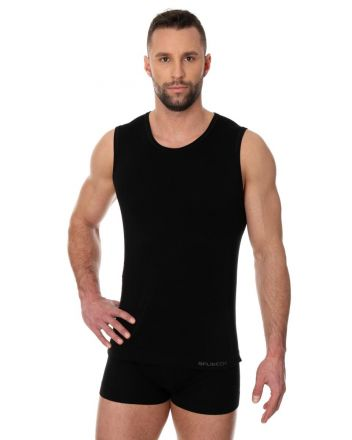 Brubeck Comfort Cotton Sleeveless | Black