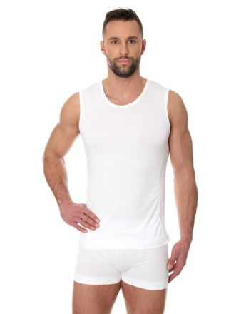 Brubeck Comfort Cotton Sleeveless | White