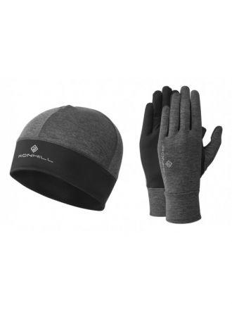 Ronhill Contur Beanie and Glove Set - zestaw termoaktywnych rękawiczek plus czapka RH-004294-00202