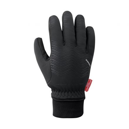 Shimano Windstopper Thermal Reflective Gloves | BLACK
