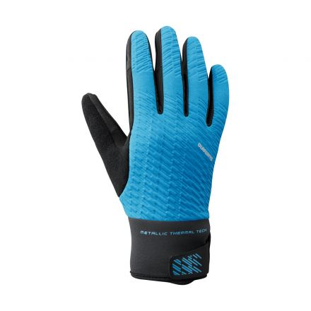 Shimano Windbreak Thermal Reflective Gloves | BLUE