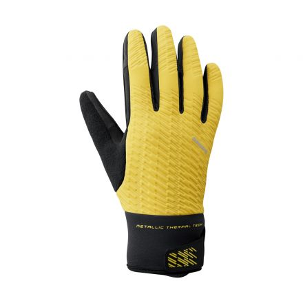Shimano Windbreak Thermal Reflective Gloves | YELLOW