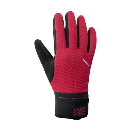 Shimano Windbreak Thermal Reflective Gloves | RED