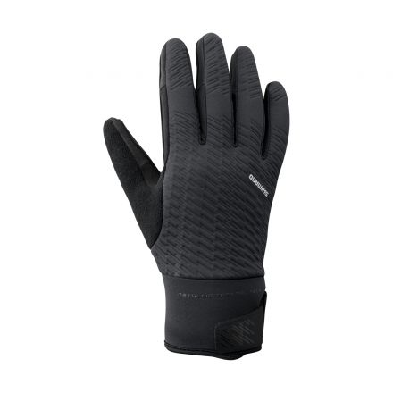 Shimano Windbreak Thermal Reflective Gloves | BLACK
