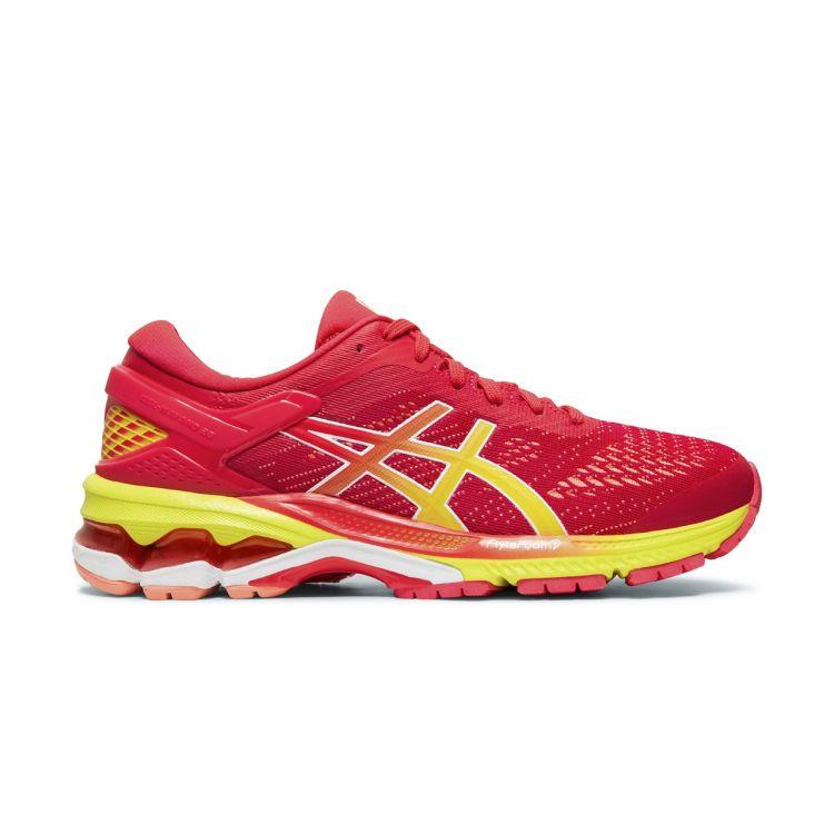 Asics Gel-Kayano 26 - dobrze zamortyzowane damskie buty do biegania 1012A609-700