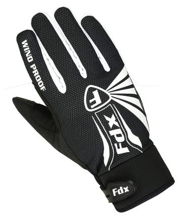 FDX RD Full Finger Cycling Gloves | BIAŁE
