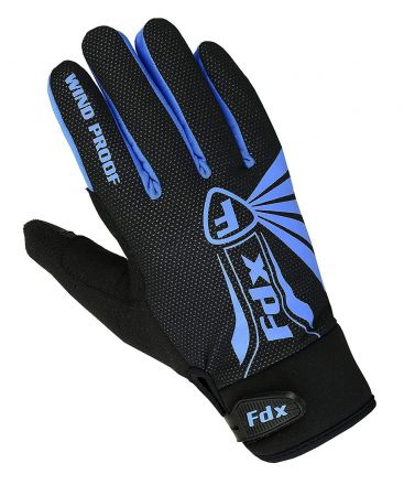 FDX RD Full Finger Cycling Gloves | NIEBIESKIE