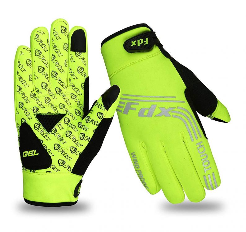 FDX AG Windproof Full Finger Cycling Gloves | ŻÓŁTE