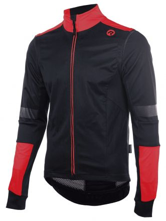 Rogelli Winter Jacket Force | CZARNO CZERWONA
