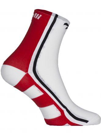 Rogelli Cycling Socks Q-Skin RCS-04 | WHITE/RED/BLACK