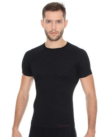 Brubeck Active Wool Men's T-Shirt | BLACK