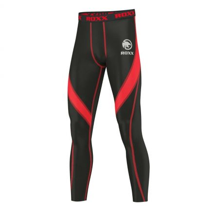 ROXX Men Compression Trousers | CZARNO CZERWONE