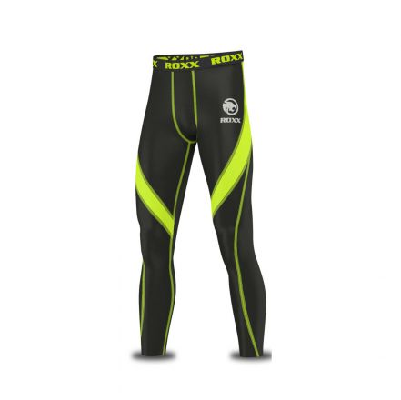 ROXX Men Compression Trousers | CZARNO ŻÓŁTE
