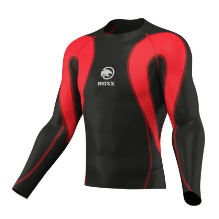 ROXX Men Compression Shirt | CZARNO CZERWONA