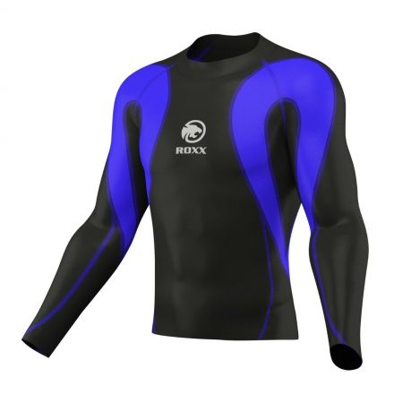 ROXX Men Compression Shirt | CZARNO NIEBIESKA