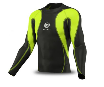 ROXX Men Compression Shirt | CZARNO ZÓŁTA
