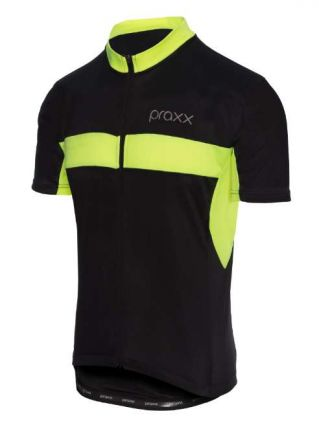 Praxx Thermoactive Cycling Jersey | BLACK-YELLOW
