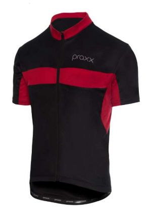 Praxx Thermoactive Cycling Jersey | BLACK-RED