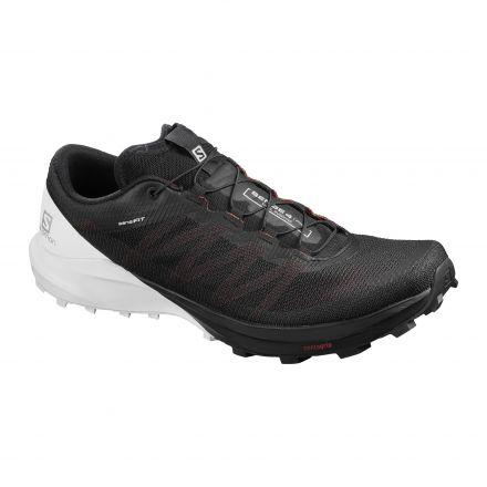 Salomon Sense Pro 4 | BLACK/WHITE - buty do biegania w terenie