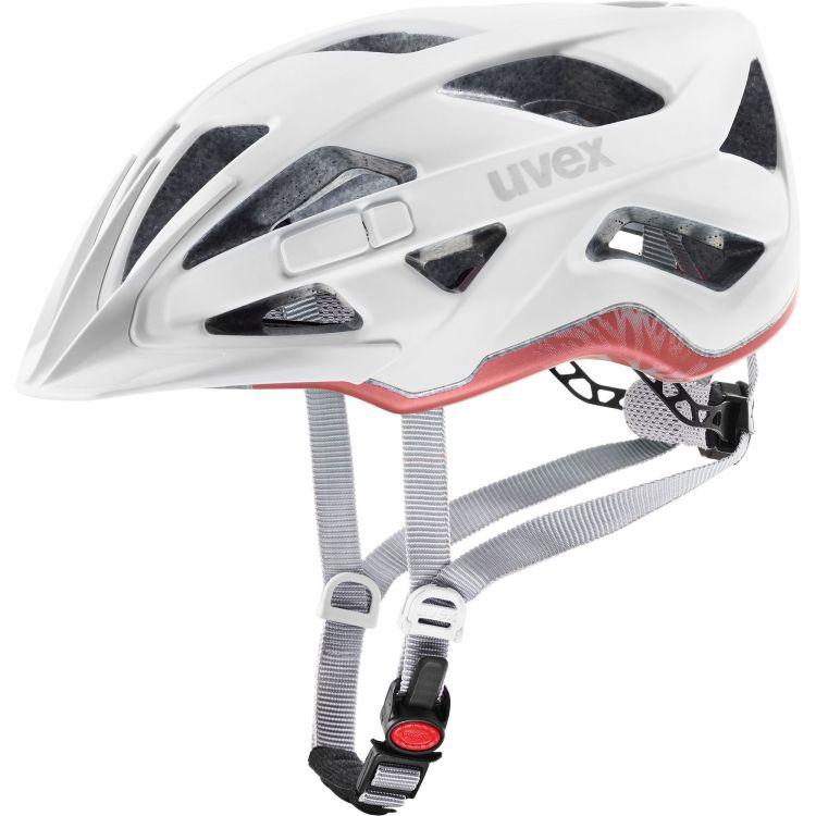 Uvex Active CC | WHITE MAT - bezpieczny miejski kask rowerowy