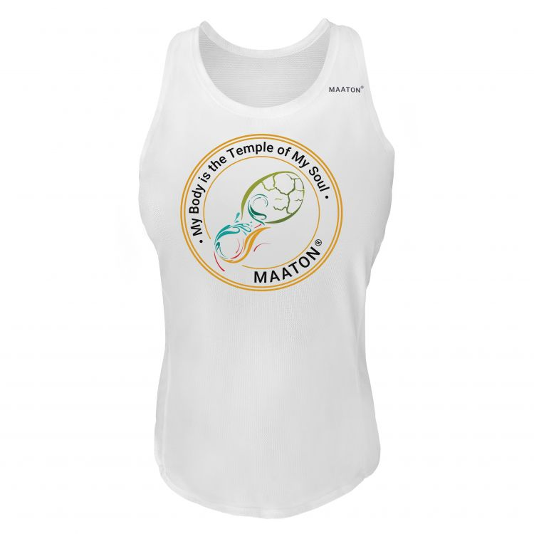 Maaton Circle Singlet W   Orange- damski bezrękawnik do biegania