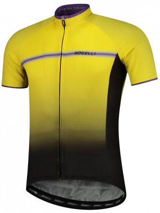Rogelli DEX Jersey | BLACK/YELLOW/PURPLE