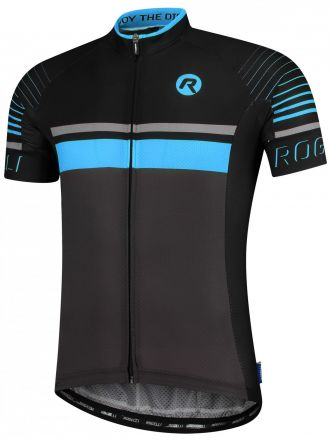 Rogelli Hero Jersey | GRAY/BLACK/BLUE